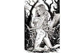 Zombie Pin Up Girl Prints