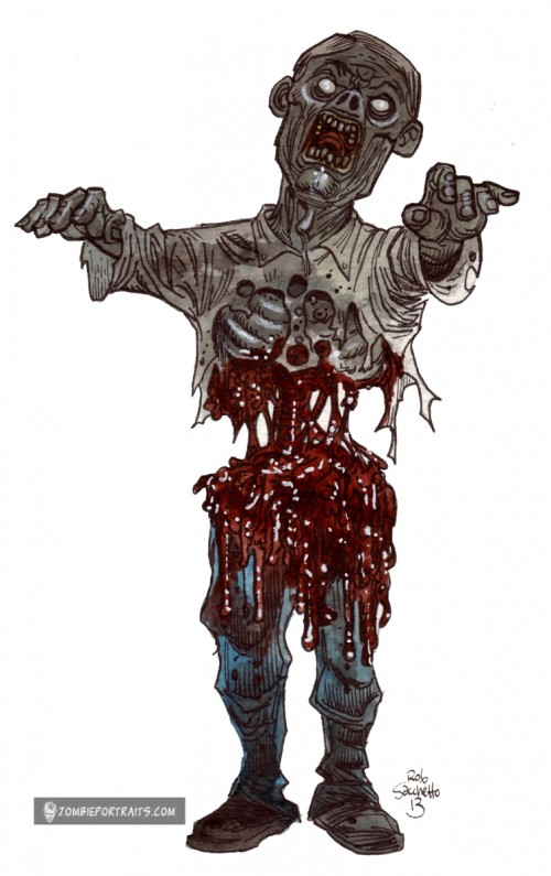 Gallery images and information: Zombie Walking Drawing