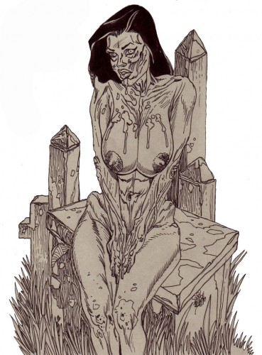 Zombie Art Pinup Diva #206/Divas Playing Cards! Zombie Art by Rob Sacchetto
