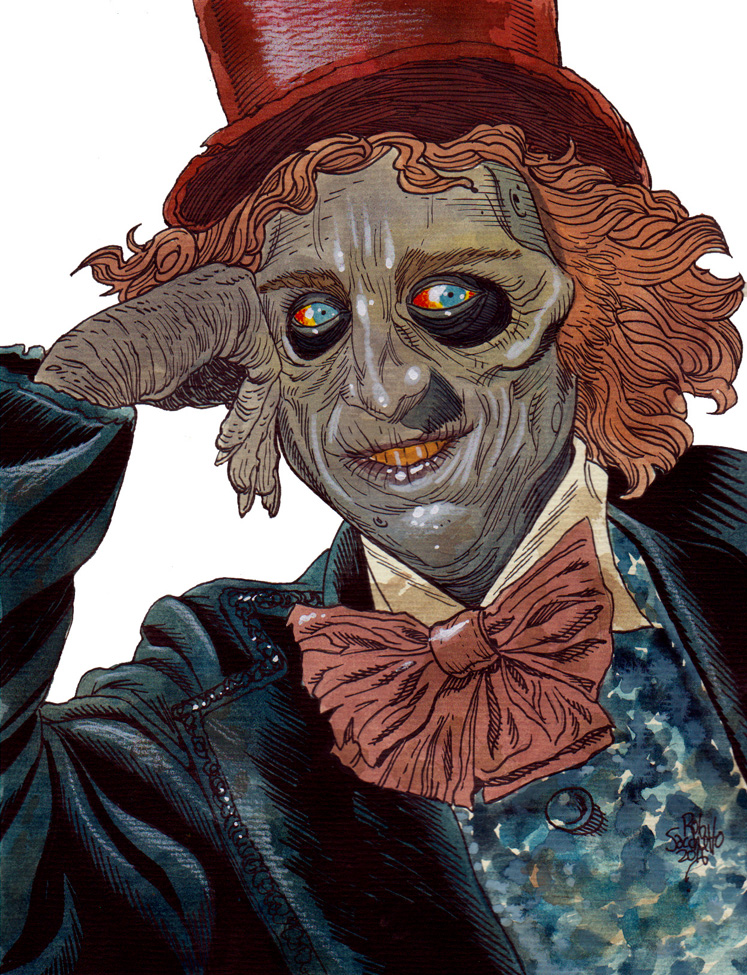 Zombie Art : Gene Wilder RIP - Zombie Art by Rob Sacchetto